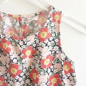 J Crew Crewcuts Ruffle Hem Dress Floral Size 10